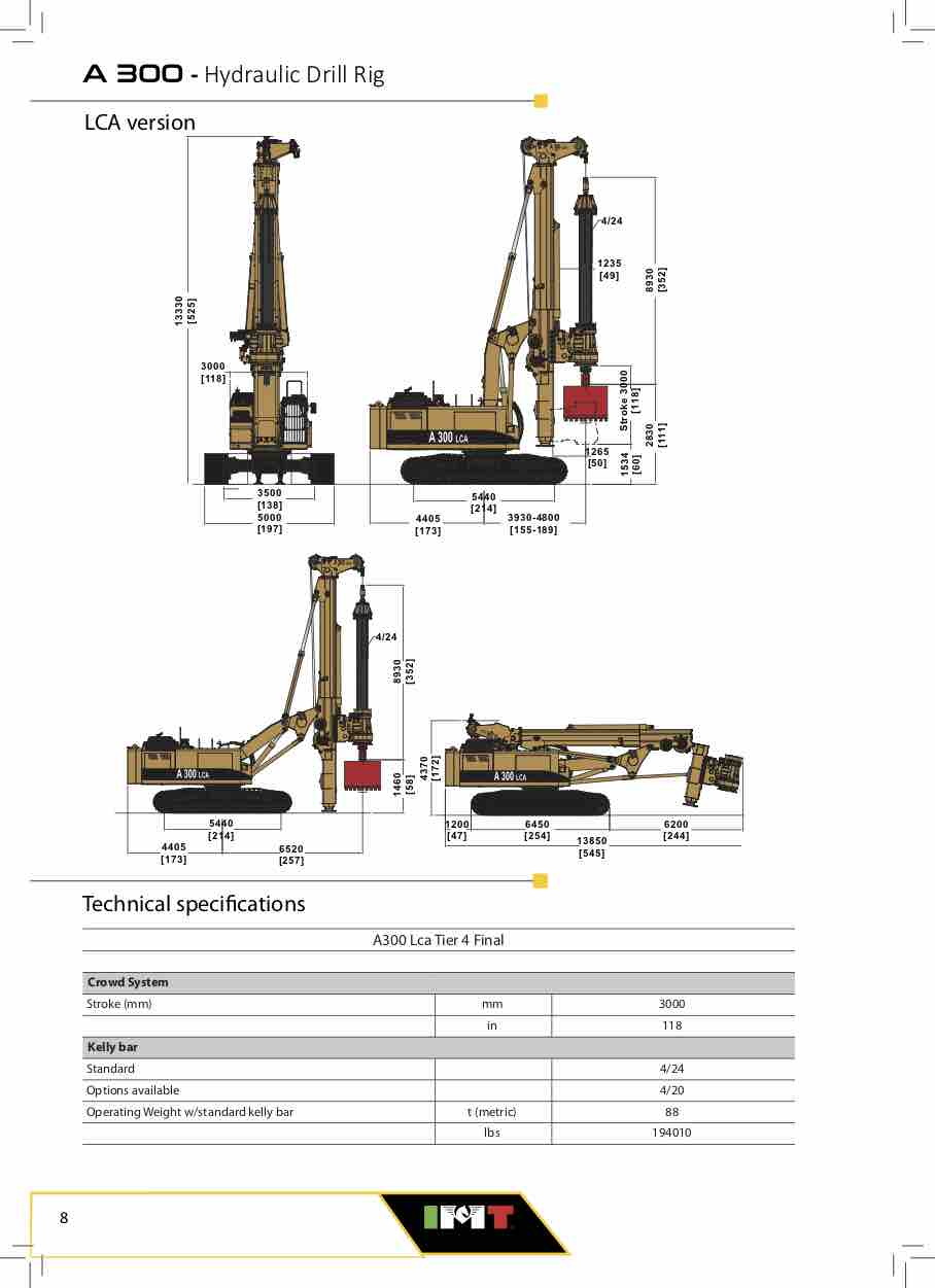 imt hydraulic drilling rigs machines